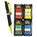 Flags Value Pack, Assorted Colors, 200 1'' Flags, Highlighter/Pen w/50 flags