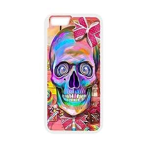 IPhone 6 Plus Colorful skeleton Phone Back Case DIY Art Print Design Hard Shell Protection FG043383