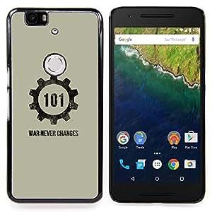 SKCASE Center / Funda Carcasa protectora - Guerra Nunca Cambios;;;;;;;; - Huawei Google Nexus 6P