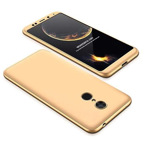 JMGoodstore Funda Xiaomi Redmi 5 Plus,Carcasa Xiaomi Redmi 5 Plus, Funda 360 Grados Integral para Ambas Caras+Cristal Templado,[360°] 3 in 1 Slim Fit ...