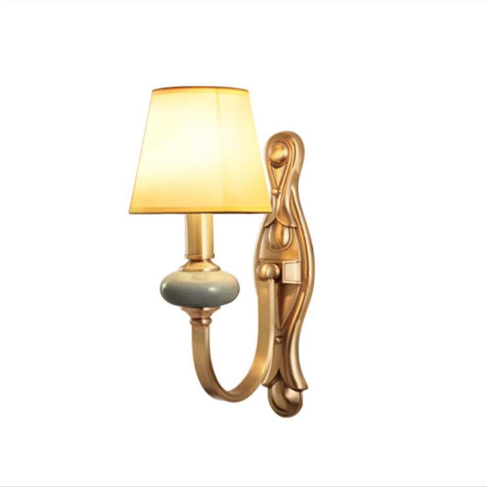 アメリカの銅の壁のランプベッドサイドの寝室のリビングルームの壁の光E14ランプの口 (色 : With warm light source) B07J2H7JYZ With warm light source