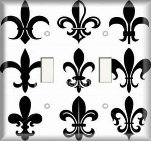 Double Switch Plate - Fleur De Lis 4
