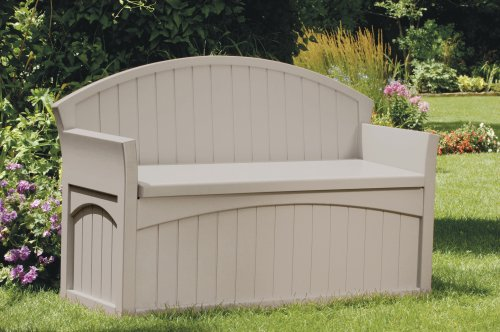 Suncast PB6700 Patio Bench, Light Taupe