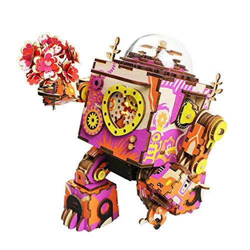 ILYO Bricolaje 3D láser Corte Rompecabezas de Madera Puzzle mecánico Amor Comienza Despertar música Caja Creativa Madera...