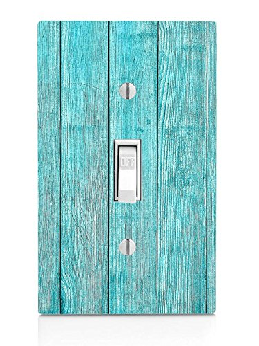 Blue Beach Wood Light Switch Plate]()