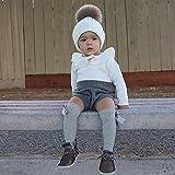 Urkutoba Baby Girls Romper Knitted Ruffle Long