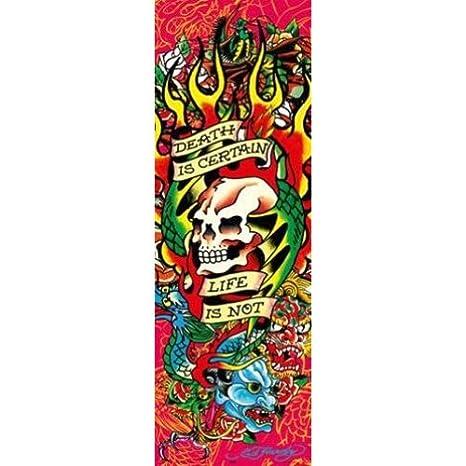 Ed Hardy Death Is Certain Life Is Not 36x12 Tattoo Art Print
