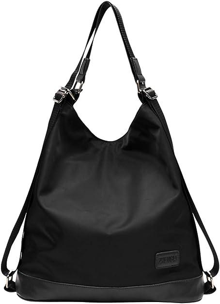 Maysurban Damen Schultertasche Nylon Handtasche Rucksack 2 In 1 Leichte Shopper Anti Diebstahl Damentasche Fur Alltag Business Urlaub Amazon De Schuhe Handtaschen