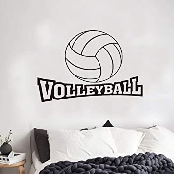 Pegatinas De Pared Frases Habitación Infantil De Voleibol En Inglés