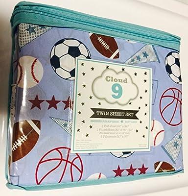 Cloud 9 All Sports Baseball/Basketball/Football TWIN Sheet Set