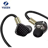 Yscen Monitors Earphones Microphone Earplugs Black Explained