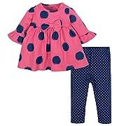 Gerber Baby Girls Dress and Legging Set, Spots, 0-3 Months