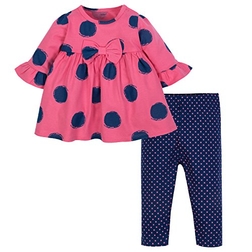 Gerber Baby Girls' Dress and Legging Set