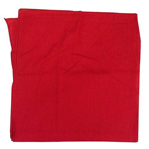 Burlapfabric.com 27x27 Extra Large Red Solid Bandanas 12 Pack 100% Cotton]()