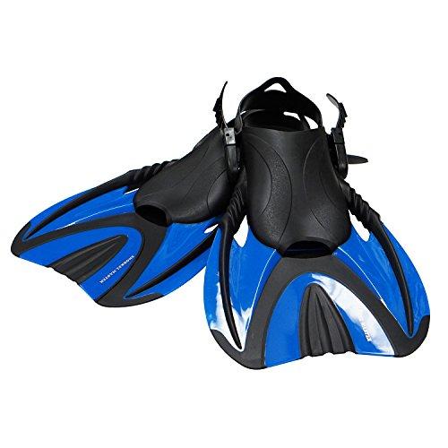 Snorkel Master Swimming Snorkeling Fins, Blue, Medium ()