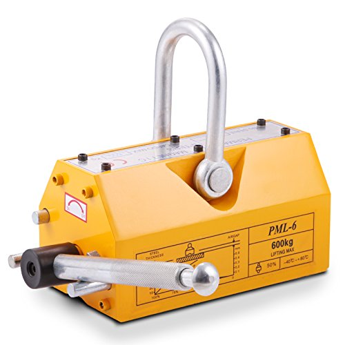 VEVOR Steel Magnetic Lifter 1320 LB Metal Lifting Magnet 600 KG Neodymium Magnetic Lift Hoist Shop Crane(600KG) from VEVOR