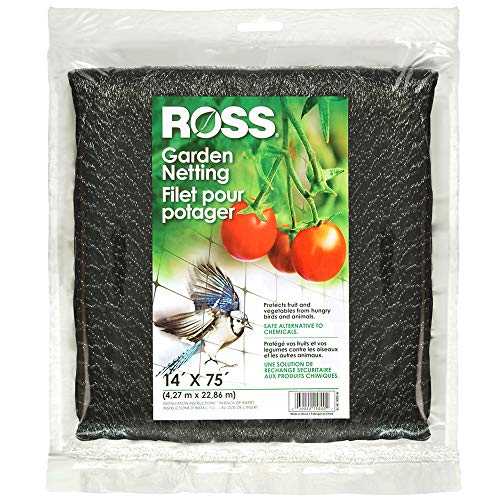 Ross 15800 Garden Nettting Protects Fruits and Vegetable from Birds and Animals, 14 feet x 75 feet, - 75' Netting Garden