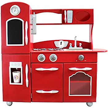 Kidkraft red vintage kitchen toys games for Kitchen set games