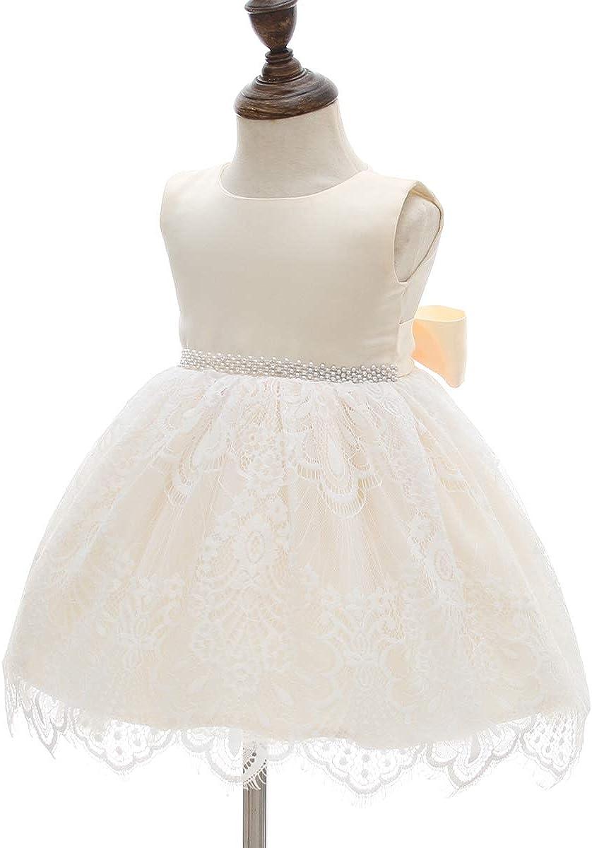 AHAHA Baby M/ädchen Prinzessin Kleid Blumenm/ädchenkleid Taufkleid Festlich Kleid Hochzeit Partykleid Festzug Babybekleidung