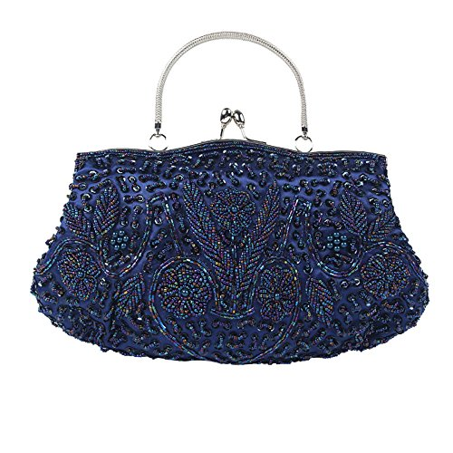 à Womens Sacs Mariée Sac Sac Pour Soirée Sac Paillettes De Ladys Pearl Pochette De Blue Fashion Sac Perlé Perle Paillettes Main D'embrayage Perlées 1w1qZTxr