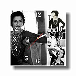 Art time production Coco Chanel 11.8'' Handmade Unique Reverse Wall Clock - Get Unique décor for Home or Office – Best Gift Ideas for Kids, Friends, Parents