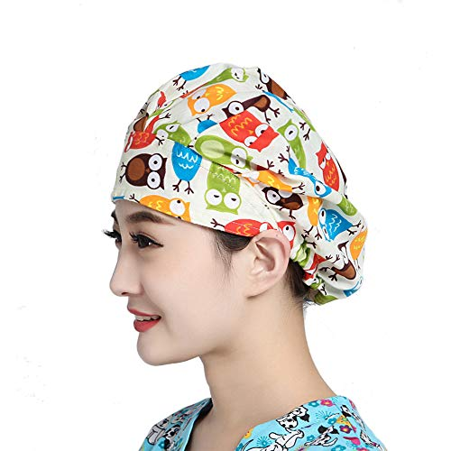 (MAKEZTSD Adjustable Surgical Scrub Cap Medical Doctor Bouffant Hat Sweatband Scrub Hat Women/Men)