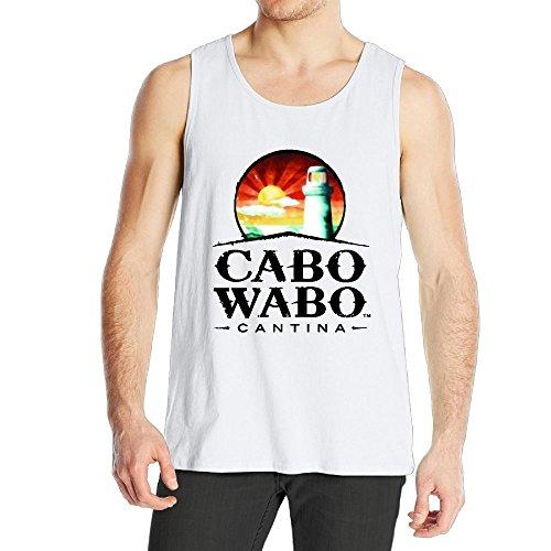 (Quliuwuda Men Cabo Wabo Logo Fitness Running White Tank Top 3X Tank Tops)
