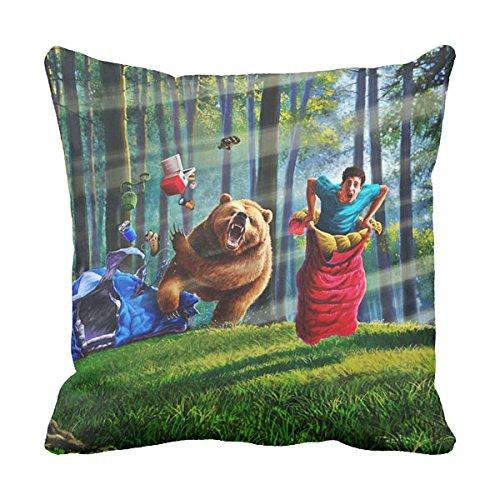 (ArtColor Deco Retro camping fail Cotton 16 x 16 inches Pillowcase )