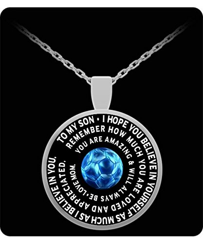Football Costume Baby Etsy (Soccer Pendant Charm For Son - Personalized Mom Gift - Silver Chain Pendant - Inspirational Charm From)