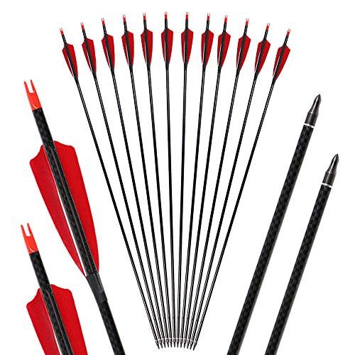 I-Sport Archery 32 inch Carbon Arrows with