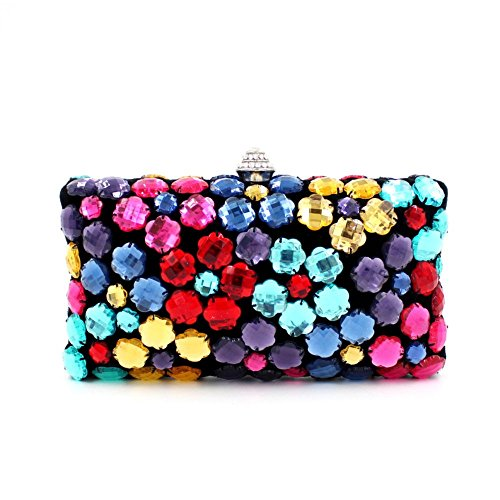 Diamond Bag Clutch Pattern Shoulder Clutch Handbag Colourful Chirrupy Prom Chief® 1fqSpngx