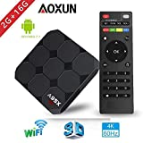 Android 7.1 Smart TV Box 【2GB+16GB】- A95X New Generation Android TV Box with Amlogic S905W 64Bits Quad-Core/Built-in Wi-Fi/HDMI Output/USB2/4K UHD Web TV Box By Aoxun
