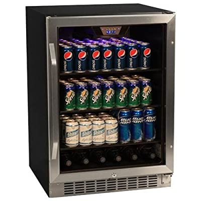 EdgeStar CBR1501SG 24 Inch Wide 148 Can Built-In Beverage Cooler with Tinted Doo