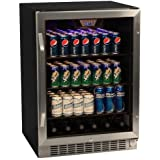 EdgeStar CBR1501SG 24 Inch 148 Can Built-in Beverage Cooler