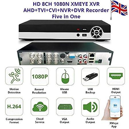 HD 8CH 1080N XMEYE XVR AHD+TVI+CVI+NVR+DVR Recorder Four in