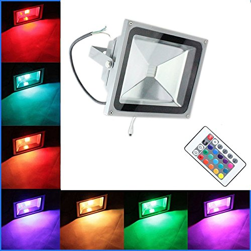PMS - Proyector LED RGB (para exterior e interior, 10 W, 20 W, 30 ...