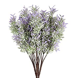 ATOFUL Artificial Plants Flowers-Plastic Faux Leaves Arrangements Indoor/Outdoor Decorations, Wedding, Party, Home 76