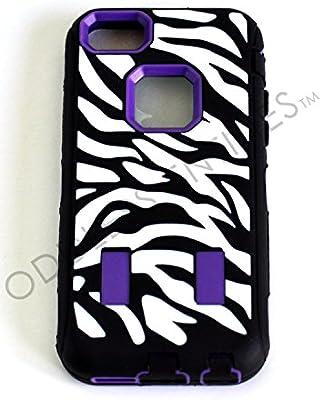 Amazon.com: 3 Piece Zebra Animal Stripes Hybrid Hard + Soft ...