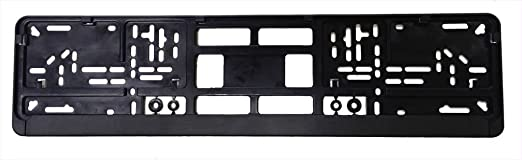 Amazon.com Standard Black Euro License Plate Holder - Universal Mounting Frame/Bracket Automotive  sc 1 st  Amazon.com & Amazon.com: Standard Black Euro License Plate Holder - Universal ...