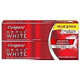 Colgate Optic White Whitening Toothpaste, Sparkling Mint - 5 oz, 2 Pack