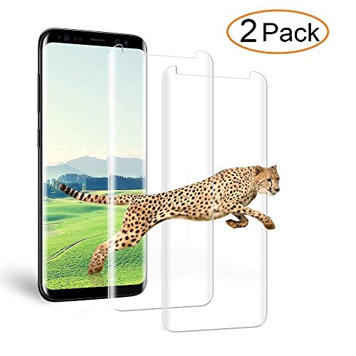 Loopilops Samsung Galaxy S8 Plus Screen Protector 3D Curved Tempered [Anti-Bubble][9H Hardness][HD Clear][Anti-Scratch][Case Friendly] Glass Screen Film for Samsung Galaxy S8 Plus