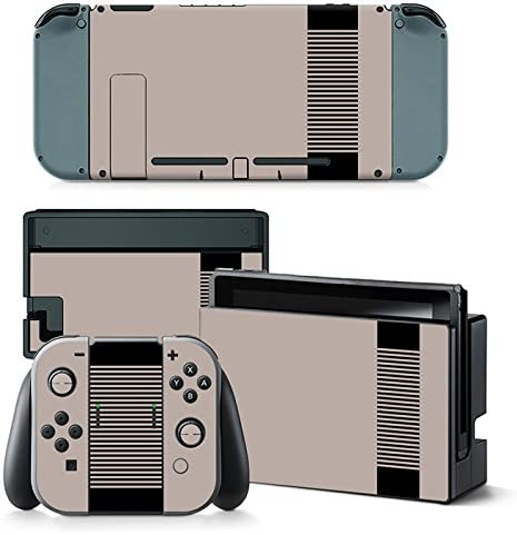 Nintendo Switch Skin Design Foils Faceplate Set - Retro NES Motivo ...