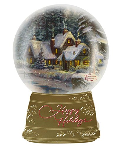 Hallmark Christmas Boxed Cards PX2682 Thomas Kinkade Snowglobe Happy Holidays Snowglobe Christmas Cards