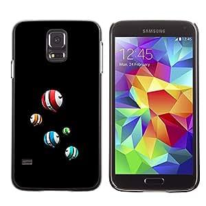 Bolas flotantes coloridas - Metal de aluminio y de plástico duro Caja del teléfono - Negro - Samsung Galaxy S5