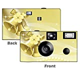 5 Pack Gold Bells Disposable Cameras, Wedding Camera, Anniversary Camera, Sweet 16, Quinceañera, party cameras, beach wedding, from CustomCameraCollection WM-50350-C