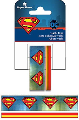 Paper House Productions DC Comics Superman Set of 2 Foil Accent Washi Tape Rolls for Scrapbooking and Crafts