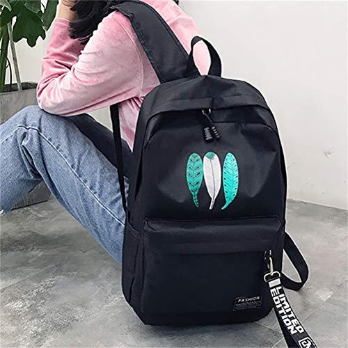 Donne Zaino Vhvcx Scuola Mochila Spalla Bagpack Modo Di Stampa Satchel Borsa Feminina Piuma Bookbags A Viaggio xgqgwzX
