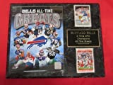 Buffalo Bills All Time Greats 2 Card Collector Plaque w/8x10 Photo