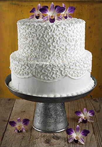 galvanized cake pedestal - 1