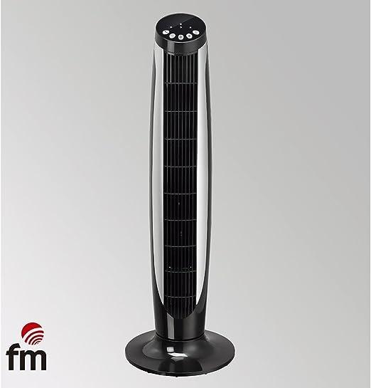 Ventilador DE Torre FM VTR Negro 45W 3 Niveles Potencia ...